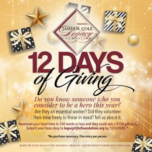 Ad for the 2020 12 Days of Giving